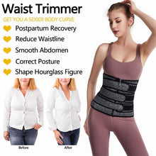 Load image into Gallery viewer, Women Waist Trainer Belt Sweat Workout Girdle