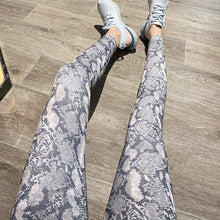 Load image into Gallery viewer, Women's Snakeskin High Waisted Leggings-Sassywaist