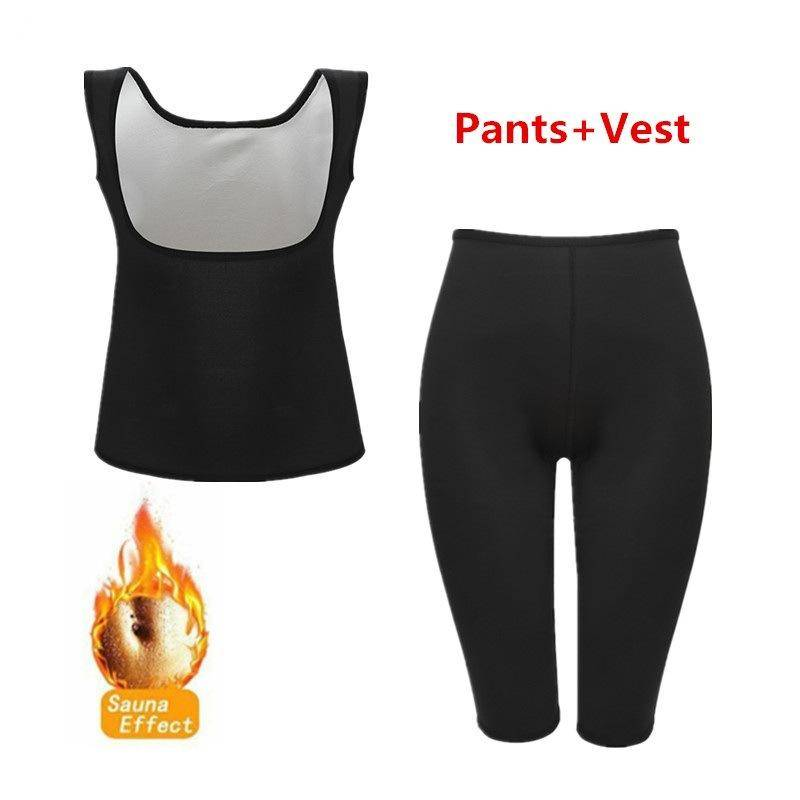 Sauna Suit Workout Vest Gym Pants Sweat Suits