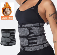 Load image into Gallery viewer, Grey Waist Trainer With Velcro & Zipper