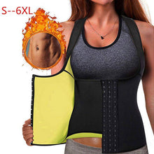 Load image into Gallery viewer, Neoprene Waist Trainer Vest with Hooks Workout Tank Top