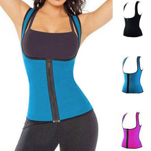 Load image into Gallery viewer, Women Waist Trainer Vest Tank Top With Zipper