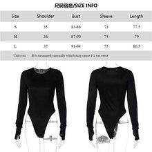 Load image into Gallery viewer, Women's Scoop Neck Long Sleeve Stretchy Basic Bodysuit