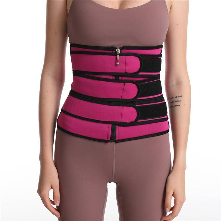 Waist Trainer Workout Sweat Belt With Zipper