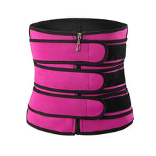 Load image into Gallery viewer, Waist Trainer Workout Sweat Belt With Zipper