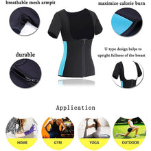 Load image into Gallery viewer, Women's Neoprene Sauna Vest with Sleeves Gym Hot Sweat Suit-Sweat Suit-Sassywaist