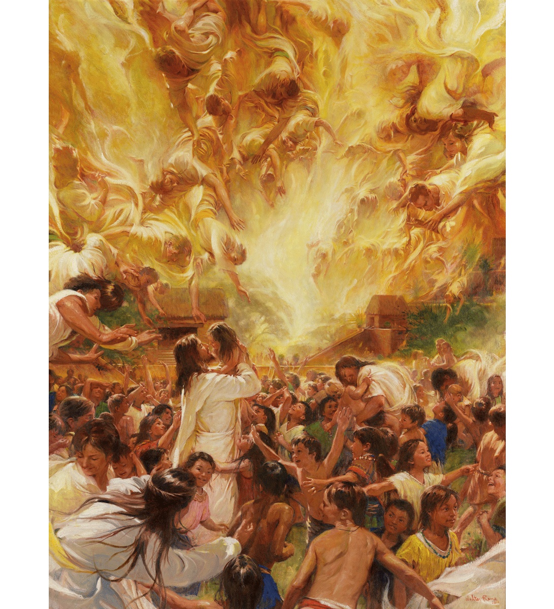 Angels Ministered Unto Them - Laser Print
