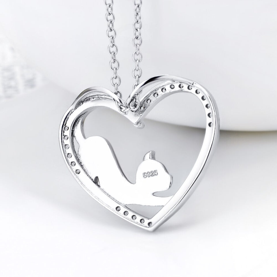 Heart-Cat Necklace