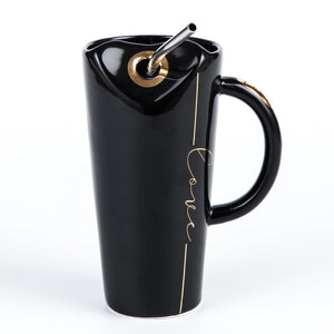 Heart Straw Coffee Mug