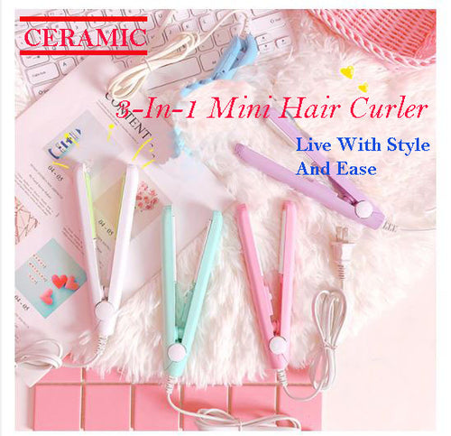 3-in-1 Ceramic Mini Hair Curler