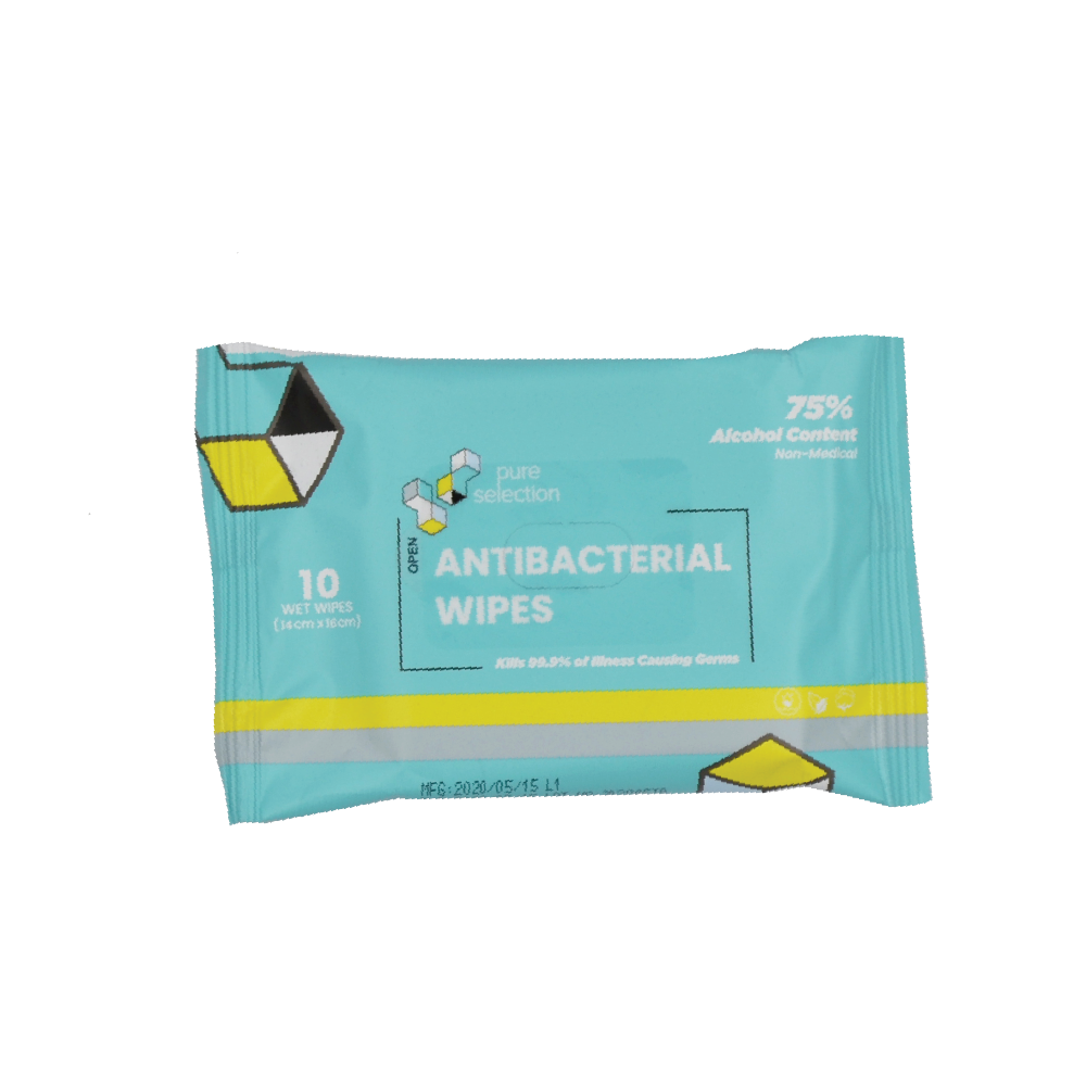 PureSelection Antibacterial wipes (10pack)