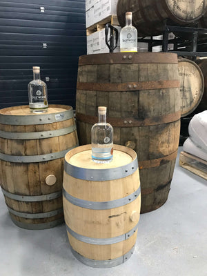 53, 15, & 5 gallon whisky barrels