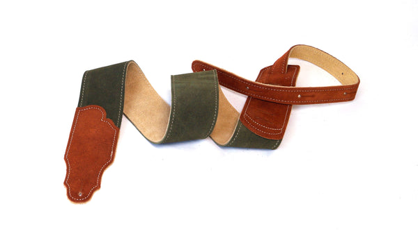 "Franklin Strap 2.5"" Sedona Suede Guitar Strap w/ Rust Suede End Tabs"