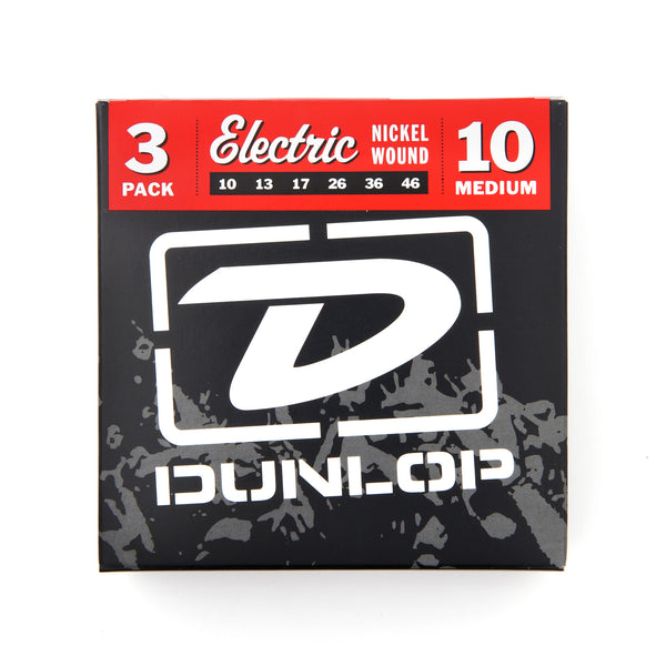 Dunlop DEN1046 10-46 Nickel Wound Medium Electric Guitar Strings - 3 Pack