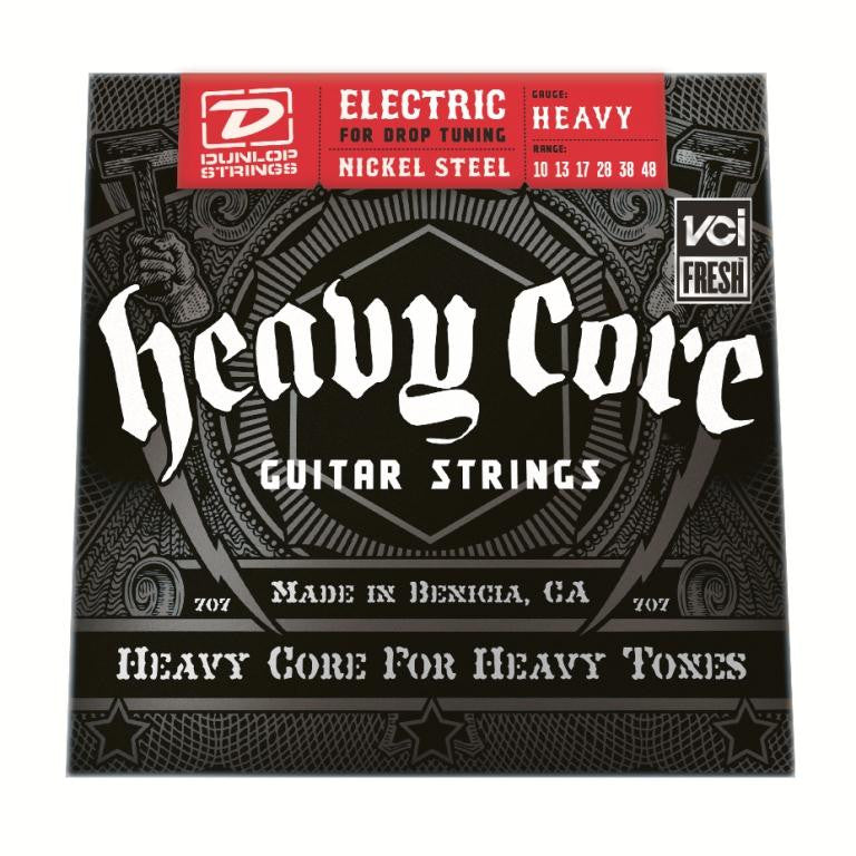 "Dunlop DHCN1048 10-48 Heavy Core NPS ""Heavy"" Electric Guitar Strings - 3 Pack"