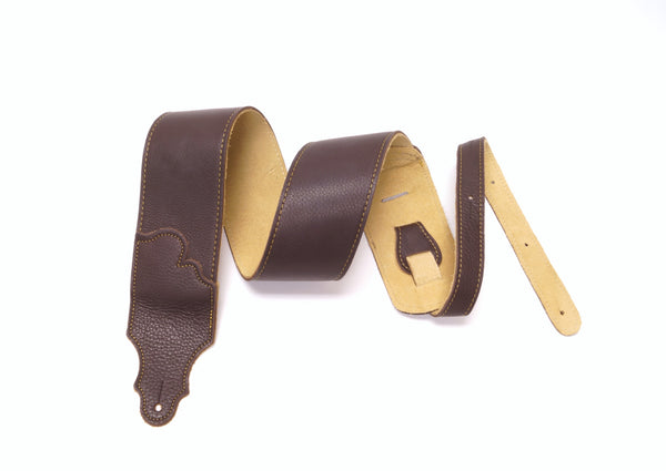"Franklin Strap 3"" Glove Leather Guitar Strap w/ Leather End Tabs"