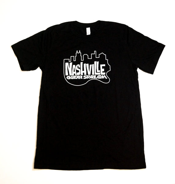Nashville Guitar Store T-Shirt (Black - Big Logo)