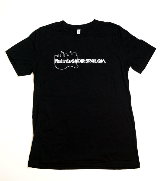 Nashville Guitar Store T-Shirt (Black - Guitar Logo)