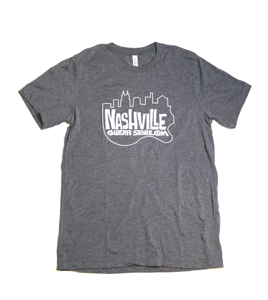 Nashville Guitar Store T-Shirt (Gray - Big Logo)