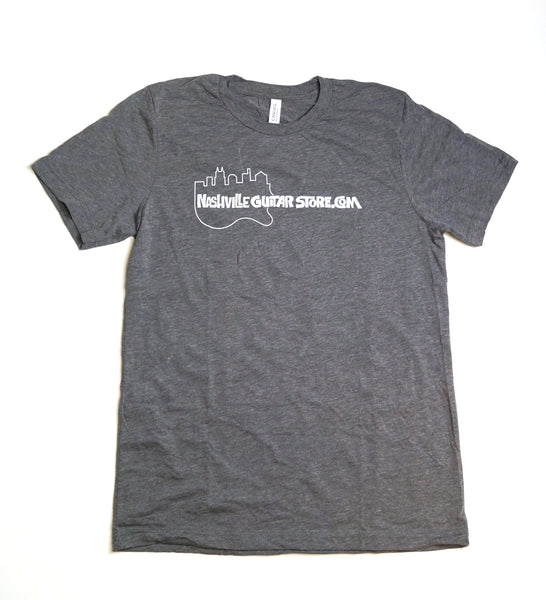 Nashville Guitar Store T-Shirt (Gray - Guitar Logo)