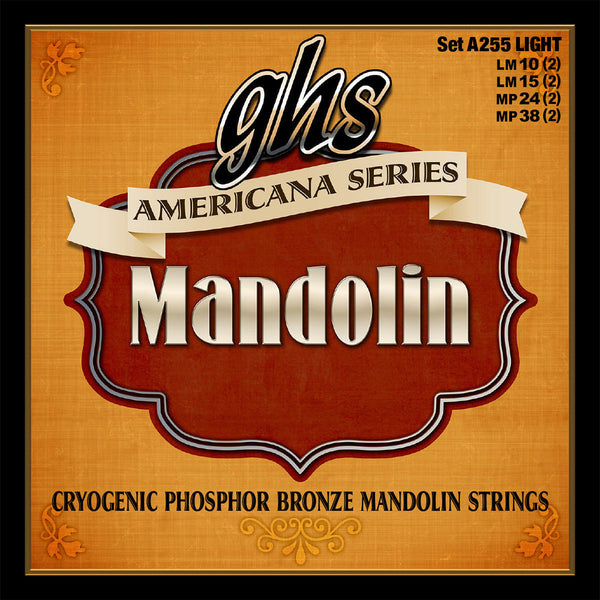 GHS A255 Americana Series Cryogenic Phosphor Bronze Light Mandolin Strings