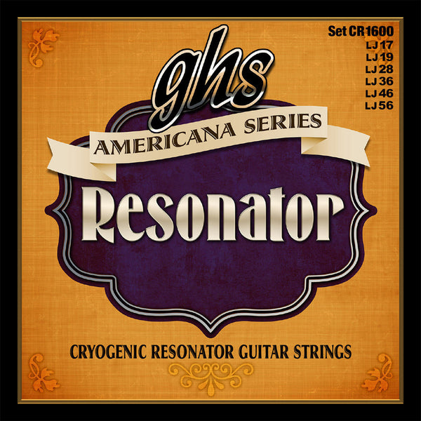 GHS CR1600 Americana Series 17-56 Cryogenic Resonator Acoustic Guitar Strings