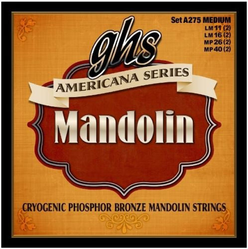 GHS A275 Americana Series Cryogenic Phosphor Bronze Medium Mandolin Strings