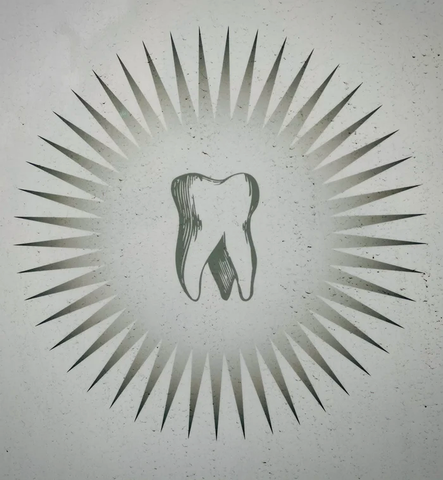 An illustration of a molar within a star callout
