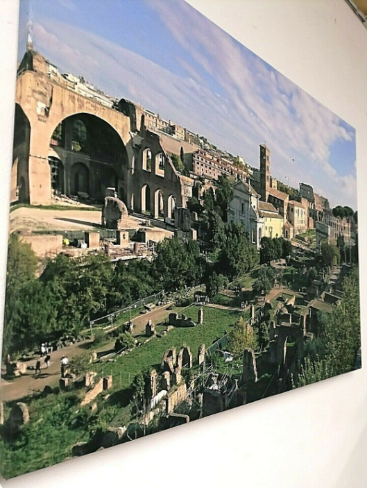 Forum & Colosseum ROME COLOUR CANVAS Picture Print Wall Decoration Art 14