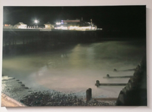 "Load image into Gallery viewer, CROMER PIER CANVAS PICTURE FRAME DECORATION ART 20""x14"" PRINT LONG EXPOSURE"