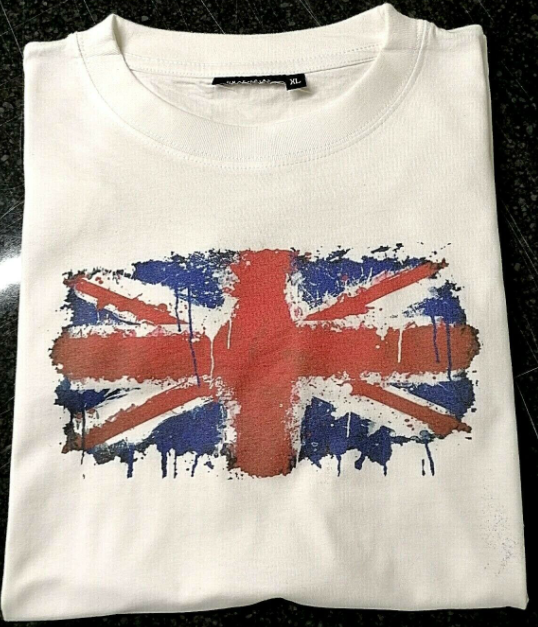 UNION JACK DRIPPING PAINT DTG PRINTED T-SHIRT SHIRTS PARTY FESTIVAL