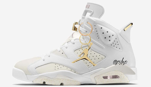 "Air Jordan 6 WMNS ""Gold Hoops"""