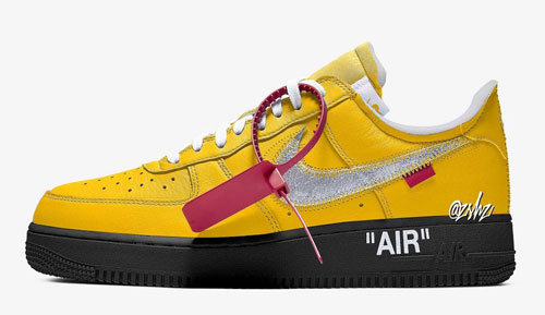 "Off-White x Nike Air Force 1 Low ""University Gold"""