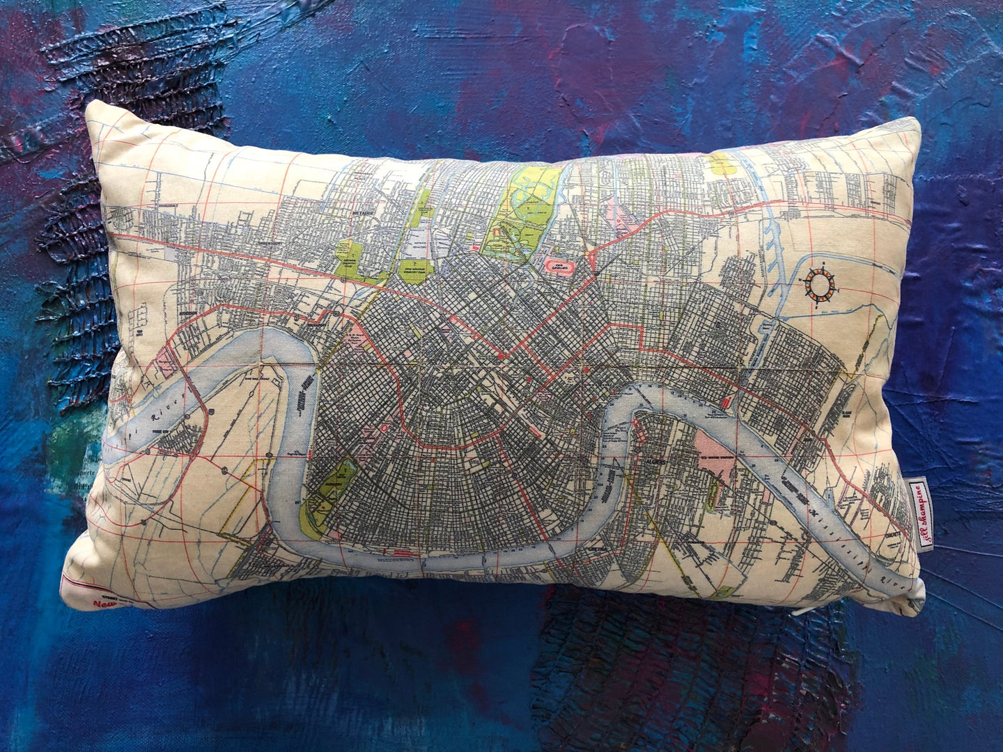 NOLA Map Pillow