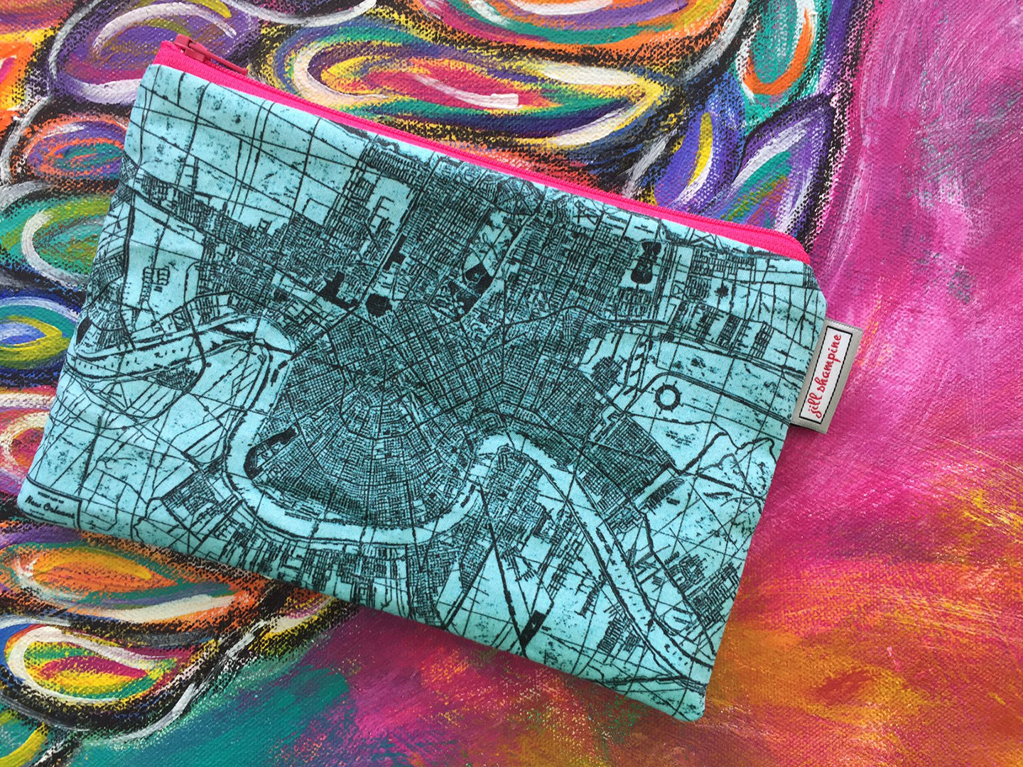NOLA Map Bag in Turquoise