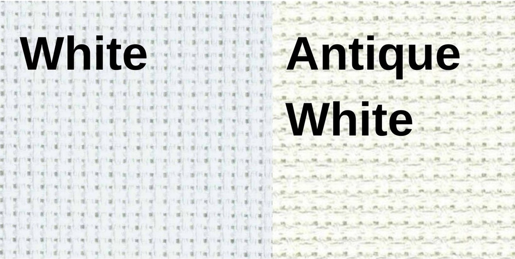 White and Antique White 18 count Gold Standard Aida