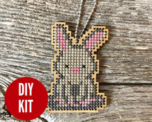 Load image into Gallery viewer, Bunny DIY laser cut wood cross stitch kit