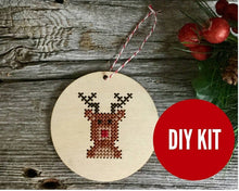 Load image into Gallery viewer, Rudolph reindeer ornament kit