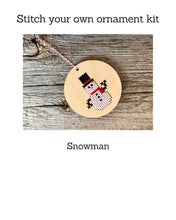 Load image into Gallery viewer, Snowman ornament kit