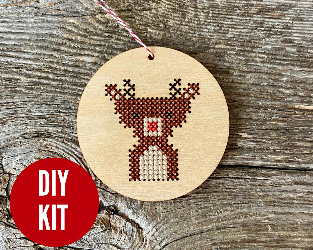 Baby reindeer ornament kit