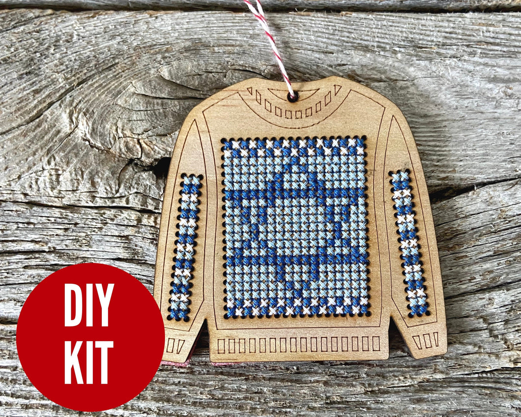 Ugly sweater with Star of David ornament kit