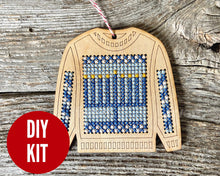 Load image into Gallery viewer, Ugly sweater with Menorah ornament kit