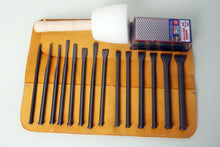 Load image into Gallery viewer, Fire-Sharp Mallet Head Full Chisel Set with Tool Roll