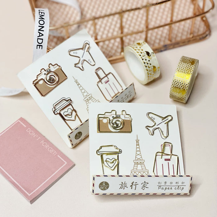 Bookmark Paperclips - World Tour - Set of 4