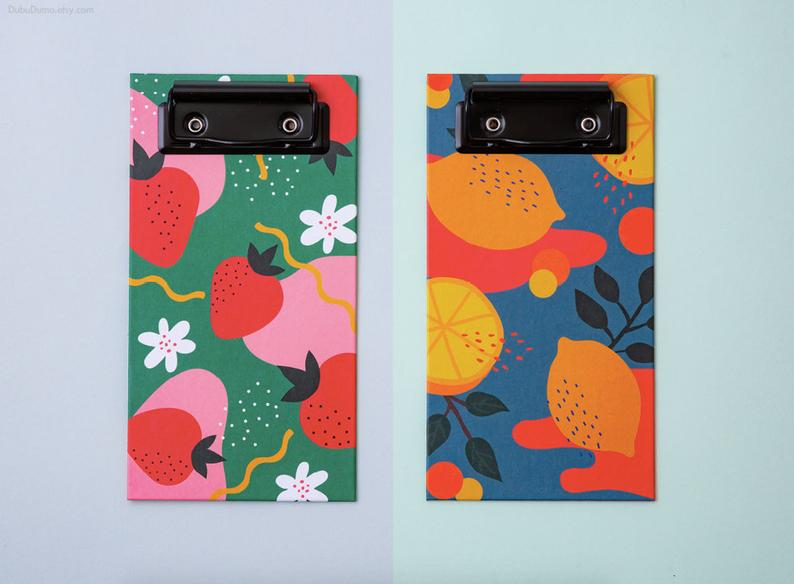 Fruits Clipboard Check List - Strawberry-Description: A tearable set of 50 printed pages along with a clipboard to ensure you dont miss out on your errands and quick to-dos. Super colourful prints on the clipboards just ensure your stationery game is on point. Dimensions: 9.5 x 18 cms Sold Individually.-Default Tittle-LemonadeIndia