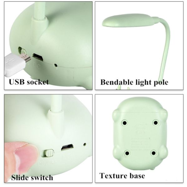 Cute Table Lamp with USB cable - Blue-Description: A super bright + useful & ultra cute USB powered desk lamp for your study that also acts as a stand-alone decor elment for your room. Dimensions: 7 x 9 x 18 cms Sold Individually.-Default Tittle-LemonadeIndia
