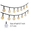 Festive Circular Lights - Set of 16-Description: A super minimal element from Lemonade for your Pinterest inspired room! These Festive Circular Lights can be hung on the wall or displayed above your bed, window doors, garden, patio or even used as decor for festivities.This emits a warm light that makes any room more calming to help your little ones sleep. They are lightweight, easy to move around & super sturdy. They are battery-powered making it super easy to install and mold as per your likin