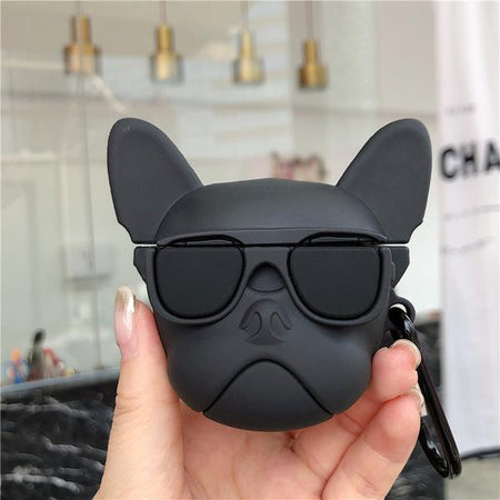AirPods 1 & 2 Case - French Bulldog - Black-Description: A perfect blend of protection & quirk!Cover your AirPods with these super fun French Bull Dog AirPods case from Lemonade. Molded with precision for a great fit. Protects your AirPods against bumps, drops and scratches.The most convenient way to protect your AirPods. Compatible only with AirPods 1 & 2. Sold Individually. Material: Soft Rubber TPU material-Default Tittle-LemonadeIndia