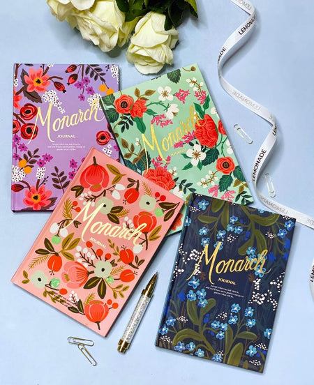 Journal - Monarch Floral - Blue-Dimension: This notebook is a must-have for all stationery lovers! Keep your important notes, quick doodles, and secret schemes safely jotted inside. Working hard? Back to school? Meeting bullets? We at Lemonade have a notebook for every occasion. Sold Individually. Additional information: An assortment of weekly & monthly division, and ruled pages, 80 pages-Default Tittle-LemonadeIndia