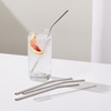 Ecofriendly Stainless Steel Straws - Set of 3 + Cleaner-Description: Every small step counts. Most stylish way to avoid single-use plastic!Lemonade's Stainless Steel Straw Set comes as a set of 3 straws including 1 thick straw, 1 straight thin straw, 1 bent straw, 1 straw cleaner along with a velvet pouch to ensure maximum hygiene! Sold as a set of 3 Straws, a Cleaner & a Velvet Pouch.-Default Tittle-LemonadeIndia